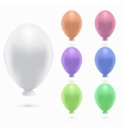 modern balloons set on white background vector image