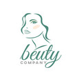 modern beauty logo vector image