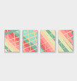 modern cover collection design abstract retro vector image