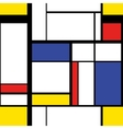 Modern painting in mondrian style seamless vector image vector image