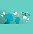 mothers day paper cut web banner with little child vector image vector image