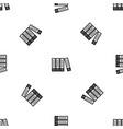 office folders pattern seamless black vector image vector image