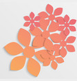 paper flower origami20 vector image vector image