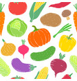 pattern with vegetables vector image vector image