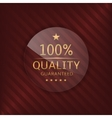 Quality guaranteed glass label vector image vector image