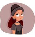 rebellious teenage girl feeling misunderstood vector image