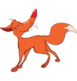 Red Fox Cartoon Character vector image vector image