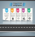 road infographic design template and marketing vector image