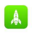 rocket galaxy icon green vector image