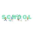 set pupils school children students vector image vector image