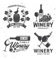 set winery company badge sign or label vector image