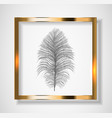 silhouette beautiful natural ostrich feather vector image vector image