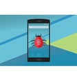 smartphone virus vector image