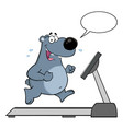 smiling gray bear cartoon character running vector image
