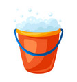 soap bucket vector image