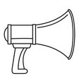sound of megaphone icon outline style vector image