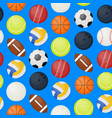sports balls seamless pattern background vector image vector image