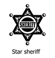 star sheriff icon simple black style vector image vector image