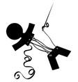stitch man stencil vector image vector image