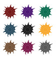 sun icon in black style isolated on white vector image vector image