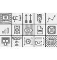 symbols mobile marketing website coding seo vector image vector image