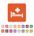 The hospital icon Ambulance and presentation vector image vector image