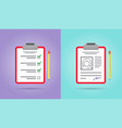 to-do list or checklist icons set with clipboard vector image