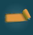 torn paper strip vector image vector image