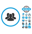 User Group Flat Icon with Bonus vector image vector image