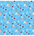 Valentines Day seamless pattern in doodle style vector image vector image