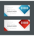 voucher template abstract geometric design vector image