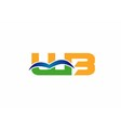 WB company linked letter logo vector image vector image