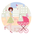 Woman pram10 vector | Price: 1 Credit (USD $1)