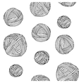 Yarn skeins seamless background vector image vector image