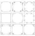 Set of different decorative frames vector image