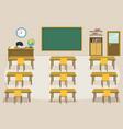 kids classroom vector image