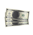 100 dollar banknotes money on white background vector image vector image