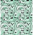 Abstract seamless pattern with doodle monsters vector image vector image