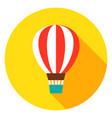 air balloon circle icon vector image vector image