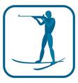 biathlon man emblem vector image vector image