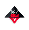 black friday sale geometric background vector image