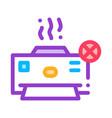 broken printer icon outline vector image