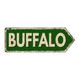buffalo vintage rusty metal sign vector image vector image