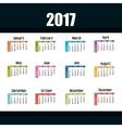 calendar 2017 template icon vector image vector image