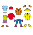 childrens clothes collection vector image vector image