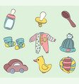 childrens things colored on a colored background vector image