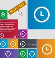 clock icon sign buttons Modern interface website vector image vector image