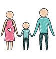 color crayon silhouette pictogram parents with vector image vector image