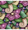 colored seamless pattern with floral motifs vector image