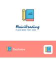 creative book and pencil logo design flat color vector image vector image